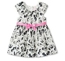 Little Golden Book Moments Toddler Girls' Kitten Print Dress Ivory 12M 18M 2T 3T