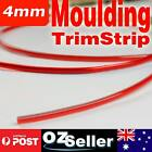 5M x 4mm Red Car Grille Exterior Chrome Styling Decoration Moulding Trim Strip