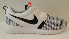 Nike Roshe Run NM BR 644425-100 White Black Hot Lava Men's Sneakers Gym Walking