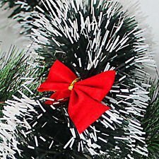 12PCS Christmas Tree Bowknot Decoration Hanging Gift Merry XMAS Party Garden Bow