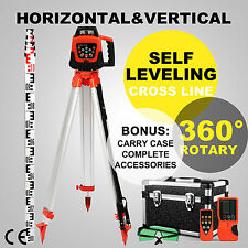 Automatic Self-leveling Rotary Laser Level+1.65M Tripod+5M staff Green Beam
