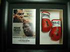 Mike Tyson/Frank Bruno Mini Signed Boxing Gloves Framed