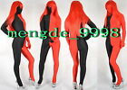 NEW LYCRA SPANDEX ZENTAI FANCY BLACK/RED FULL BODY SUIT CATSUIT COSTUMES #X331