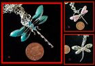 ~Pretty Dragonfly Glitzy Kitsch Necklace ~Free P& P~ Various Colours~ Gift Idea~