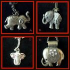 ~ Cute Elephant Glitzy Kitsch Necklace ~Free P& P~ Various Colours~ Gift Idea ~
