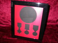 WW1 Medal Frame-14 or 15 Star, BWM, Victory Medal & Memorial Plaque