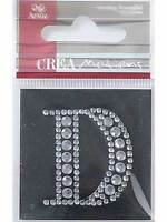 Artoz Diamond Crystal Letter D Craft Embellishment Sticker Card Making