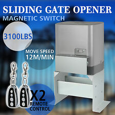 SLIDING GATE OPENER 3100LBS CHAIN DRIVEN SWING OPERATOR REMOTE KIT HOT PRODUCT