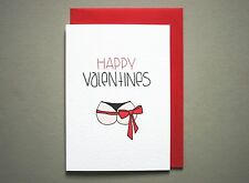 funny happy valentines day card boyfriend husband adult bum handmade love card