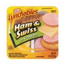 Kraft Oscar Mayer Lunchable Ham and Swiss Cheese, 4.5 Ounce -- 16 per case.