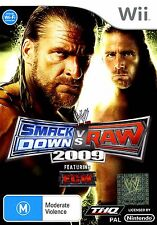(Wii) WWE SmackDown Vs. Raw 2009 - GC, Complete, Australian, Guaranteed, PAL