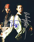 ** Pirates Of The Caribbean ** JOHNNY DEPP/ORLANDO BLOOM Autographed 8x10 RP*