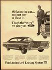 1966 Vintage Ad for Ford Authorized Leasing System (022312)