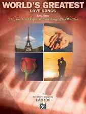 World's Greatest Love Songs: Piano Solo Sheet Music