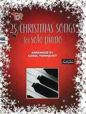 Top 25 Christmas Songs for Solo Piano: Piano Solo Sheet Music / Songbook