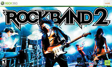 Xbox 360 ROCK BAND 2 Special Edition Band Bundle wireless drums/guitar
