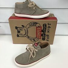 Camper Pursuit / Pelotas Boys Casusl Sneaker in Light Tan Suede with Laces