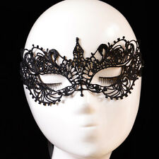 Signora Nero Lace Floral Eye Mask Venetian Masquerade Fancy Party Maschere Dress