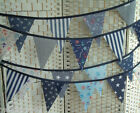 Nautical navy blue bunting, banner, single-sided, standard 13x19cm flags
