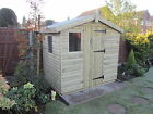 "7X5 REVERSE WOODEN TANALISED SHED ,19MM T/G, 4"" LOGLAP,3X2CLS,1"" THICK FLOORING"