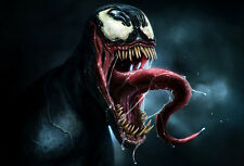 Spider-Man Venom Awesome Wall Art  Poster | Sizes A4 to A1 UK Seller E038