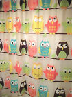Shower Curtain Love 'n Nature Owl 70 in x 72 in + Shower Hooks New