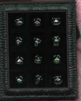 Nightmare before Christmas NMBC 12 faces of Jack framed 12 pins in set pin/pins