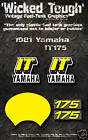 YAMAHA 1981 IT175 WICKED TOUGH DECAL GRAPHIC KIT