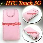 PINK FLIP UP LEATHER CASE POUCH COVER for HTC TOUCH 3G
