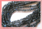 Beautiful Grey Labradorite Faceted Rondelle Spacer beads 5mm