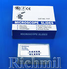 """50 Frosted Microscope Slides 1x3"""" + 100 Coverslips 50mm"""