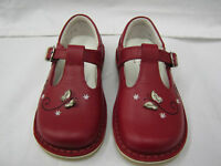 Girls Startrite Shoes In Red Leather 'Grace' G Fitting