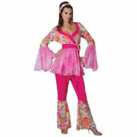 60s Groovy Hippie Hippy Chick Fancy Dress Costume ML XL