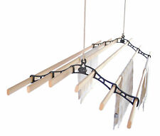6 LATH Kitchen Maid® Pulley Clothes Airer Laundry Dryer