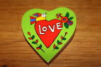 LOVE PLAQUE Hand Painted, Fair Traded, 7cmx7cm