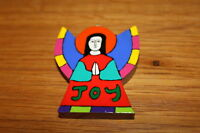 ANGEL OF JOY PLAQUE Hand Painted, Fair Traded, 8cmx6cm