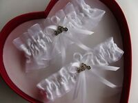 New Sexy Bridal White Wedding Garters Harley MotorcycleProm FREE SHIP In USA