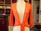 ALIVEGIRL Orange 3/4 Sleeved Mesh Wrap SZ 8