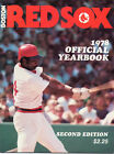 1978 Boston RED SOX Official Yearbook Great Condition