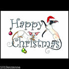 NEW! LARGE SIAMESE CAT PAINTING CHRISTMAS CARD BY SUZANNE LE GOOD