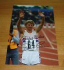 STEVE CRAM GENUINE HAND SIGNED AUTOGRAPH 12x8 PHOTO BRITISH OLYMPIC LA '84 + COA