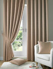 "Madison Latte Fully Lined Curtains 3""Tape Top,Semi Plain Design AMAZING VALUE!!"
