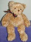 "GUND PLAID PLAID 44220 HANDMADE 16"" TALL BEAR ~ Y"