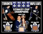 JOHNNY BOWER-DAVE KEON-BOBBY BAUN 62-63-64-67 STANLEY CUP PHOTO GAME USED STICK