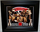 "ROY-PLANTE-DRYDEN-VEZINA "" LES GOALIES "" 8x10 W/ MONTREAL FORUM RED SEAT FRAMED"