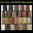 22 inches Clip in Remy Human Hair Extensions Black Brown Blonde Extra Thickness