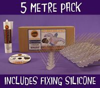 BIRD & PIGEON SPIKES Defender Wide Steel 5m - includes fixing silicone