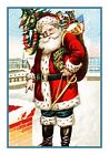 Victorian Christmas Santa Claus #7 Counted Cross Stitch Chart
