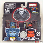 Minimates X-Men Beast and Azazel figures worn package