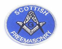 SCOTTISH FREEMASONRY WORLD EMBROIDERED PATCH BADGE with free UK postage